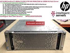 HP DL580 Gen8 4x E7-4820v2 32-Core 512GB 12TB SAS P830i/2GB 4x 1200W Rack Server