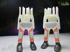 PLAYMOBIL PLAYFIGURE Legs COLOR WHITE ORANGE / PARTS /ACCESSORIES LOT OF 2