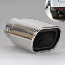 Universal Car Stainless Steel Exhaust Tails Rear Silencer Tip Pipe End 63mm
