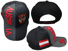 Austria Country Black Red Letter Crest Patch On Side Embroidered Hat Cap