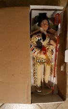 Vintage Judy Bell thunder horse wedding day doll Danbury Mint American Indian