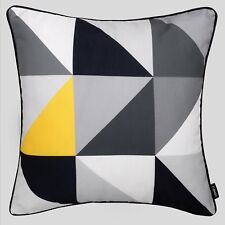 Modern Geometric Cushion Mustard Yellow Grey Sofa Pillow Case Cover 45cm 18in