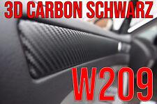 Mercedes Benz CLK W209 3D CARBON SCHWARZ ZIERLEISTEN FOLIEN SET