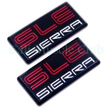 GMC Sierra SLE emblem 1500 2500 3500 Pillar Cab Roof Side 88 89 90 91 NEW 2pc