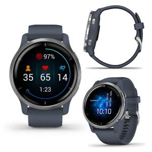 Garmin Venu 2 Granite Blue Smart GPS Running Swimming Cycling Multi Sports Watch