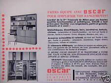 PUBLICITÉ 1959 OSCAR BIBLIOTHÈQUE ET MEUBLES PAR ÉLÉMENTS - ADVERTISING