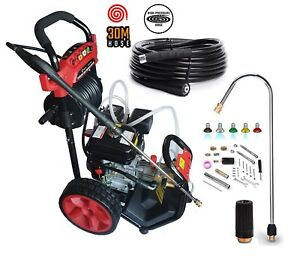 Petrol Pressure Washer  8.0HP 3950psi AWESOME POWER T-MAX 2020 PRO 30 METER HOSE