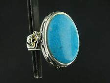 Chunky Barse Sterling Silver Turquoise Cabochon Ring Size 7 Free Shipping RS895