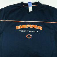 Chicago Bears Reebok NFL Team Pullover Fleece Sweater Blue Orange L Large