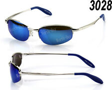 New Mens Retro Vintage Old School Metal Small Mirrored Lens 80 Sunglasses Shades