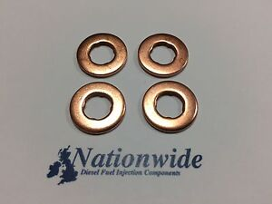 Fiat Albea 1.3 JTD 16V Common Rail Diesel Injector Washers/Seals x 4