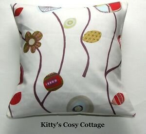 """16"""" New Vintage Chic 'Flower Lollipops fabric cushion cover"""
