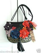 A New Next Pretty 3D Flower & Leopard Print Design Across Body Bag