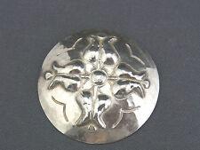 schöne alte Brosche 835/-Silber ca. 30er Jahre Hammerschlag