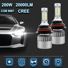 CREE COB 9007 HB5 200W 20000LM LED Headlight Kit Hi/Lo Power Bulbs 6500K White