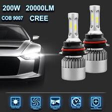 2X Cree 200W 20000LM 9007 HB5 LED Headlight Kit 6500K High Low Beam Bulbs White