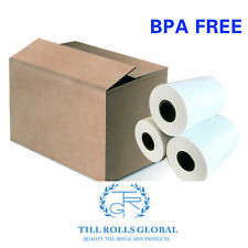 100 Thermal Till Rolls 57 x 40mm Credit Cards Machine