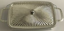 Pyrex Glass Platter 12D & Sliver Plated Tray-England