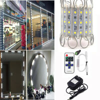 US 20ft Cool White 5050 SMD RGB 3 LED Module Lights + Remote With Power Supply