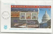 More details for greenland 1995 liberation anniversary mini sheet ms fdc first day cover sg#284b
