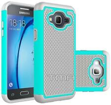 Fits Samsung Galaxy J3 J3(6) Case Shockproof Rugged Rubber Impact Cover - Teal