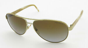 Ralph Lauren Sunglasses RA4004 Ivory Silver Aviator Frame Brown Polarized Lenses