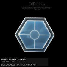 Epoxidharz Silikonform Hexagon Coaster Gießform Epoxy Resin Art Silicone Mold