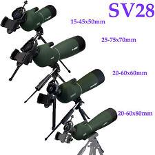SVBONY 15-45x50/20-60X60/25-75x70/20-60x80mm Spotting scope+Tripod+Phone Adapter
