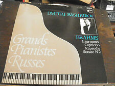 Dimitri Bashkirov - grands pianistes russes - Brahms disque Harmonia mundi 5167