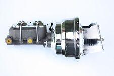 "8"" Dual Chrome Power Brake Booster Kit 1960-66 Chevy C10 C20 Drum/Drum NEW 4VB"