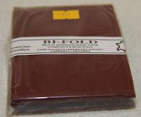NEW Men's Genuine Leather Reddish Brown Bifold Wallet w/Center Flap 993 Bi-Fold
