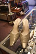 Nordstrom pastel green leather mules size 9 N
