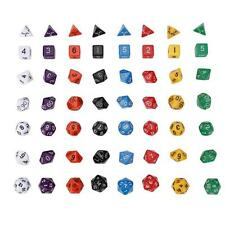 7Pcs Pearl Grain D4-D20 Multi Sided Dices Set For Trpg game Us