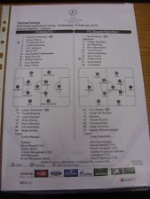 19/02/2014 Colour Teamsheet: Arsenal v Bayern Munich [Champions league] . Thanks