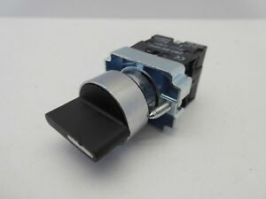 XB2-BD33 THREE POSITION 22MM PANEL MOUNTING SWITCH N/O CONTACT BLOCK CHANGEOVER
