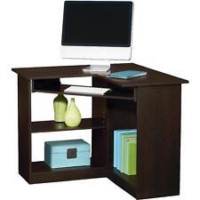 Espresso Corner Student Desk Space Saving Home Computer College Room Dorm Decor