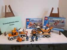 LEGO SET 7686 TOWN CITY TRAFFIC HELICOPTER TRANSPORTER COMPLETE W/ MANUALS