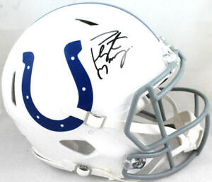 Peyton Manning Autographed Colts 04-19 Speed Authentic F/S Helmet-Fanatics *Blk