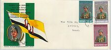 61244  - BRUNEI - POSTAL HISTORY - FDC COVER   SG # 157/9  1968 - ROYALTY