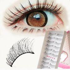 Handmade Black Trend Charming Fake Thick False Eyelashes Long 10 Pairs Makeup