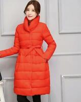 Women's Chic Warm Parka Cotton Puffer Coat Jacket Long Style Outerwear Solid New