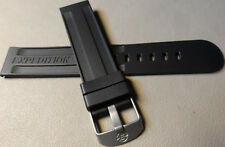 New Mens Timex Water Resistant Rubber Fits Any 20mm Expedition Black Watch Band