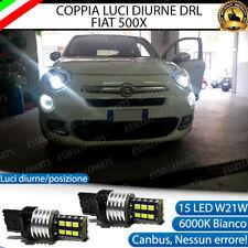 COPPIA LAMPADE DIURNE POSIZIONE DRL 15 LED T20 CANBUS FIAT 500X MY2017 NO ERRORE