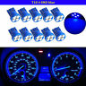 10x T10 Wedge 4-SMD LED Dashboard Light W5W 194 168 2825 Gauge Cluster Bulb Blue