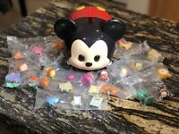 Disney Tsum Tsum Lot Of 11 Mystery packs W/Mickey Carrying Case
