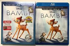 DISNEY BAMBI BLU RAY DVD 2 DISC + SLIPCOVER & COLLECTIBLE TYRUS WONG LITHOGRAPH