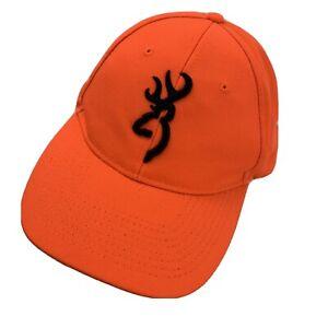 Browning Orange Ball Cap Hat Adjustable Baseball Hunters Deer