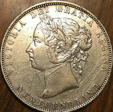 1899 NEWFOUNDLAND SILVER 50 CENTS - Narrow 99 - High grade example - Cleaned