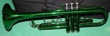 TROMBA Sib COLORE NEW ORLEANS 3 PISTONI IN CUPRO-NICKEL TP-07C GREEN LACQUER