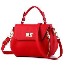 Elegant Women Solid Cover Handle Bags - Red (CZG052238)